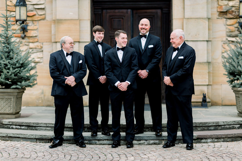 groomsmen at graylyn estate