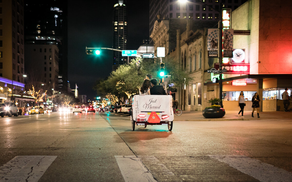 wedding pedicab austin
