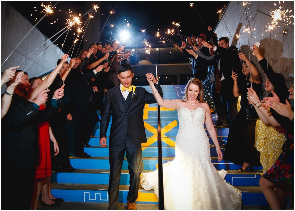 Austin wedding photographer w hotel wedding photographer bride groom sparklers