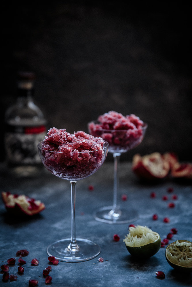 Pomegranate, Lime & Tequila Granita | Anisa Sabet | The Macadames-1