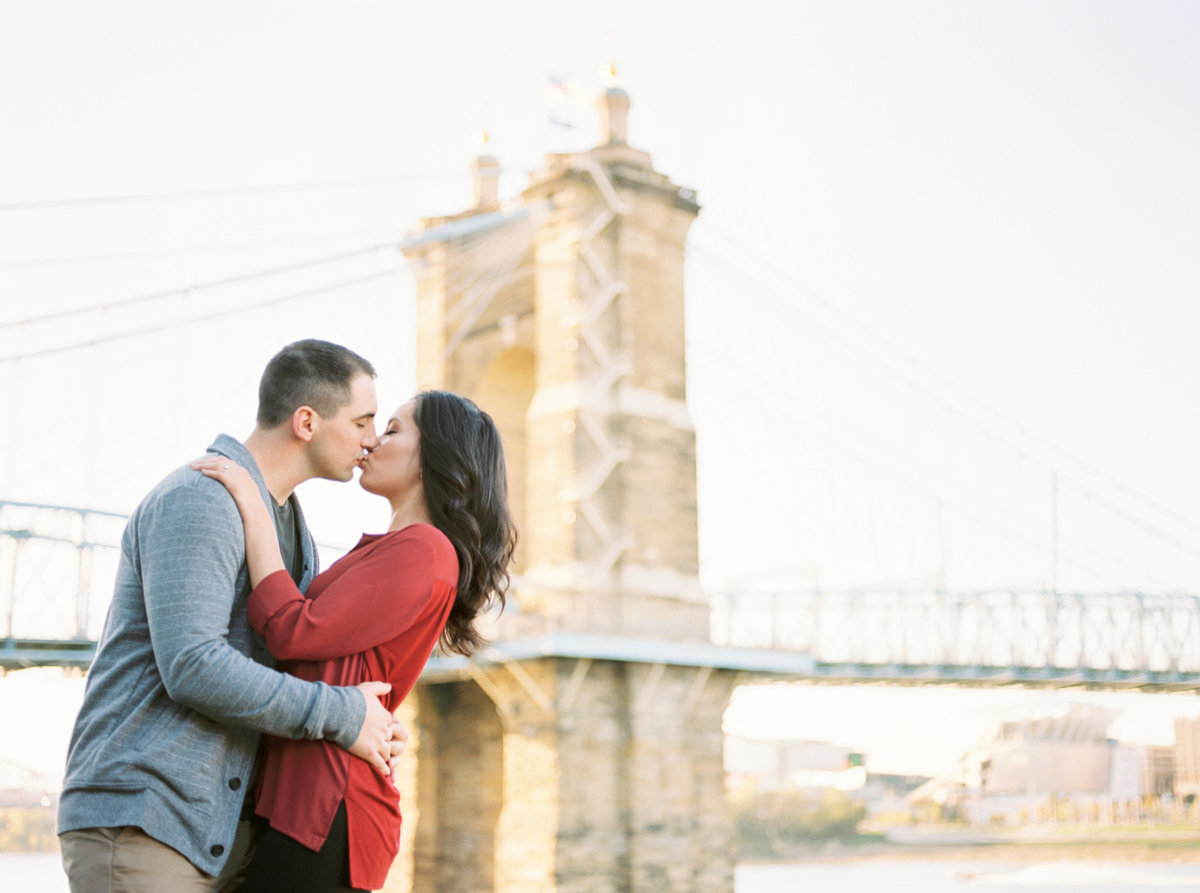 Cincinnati Engagement Session, Covington Bridge