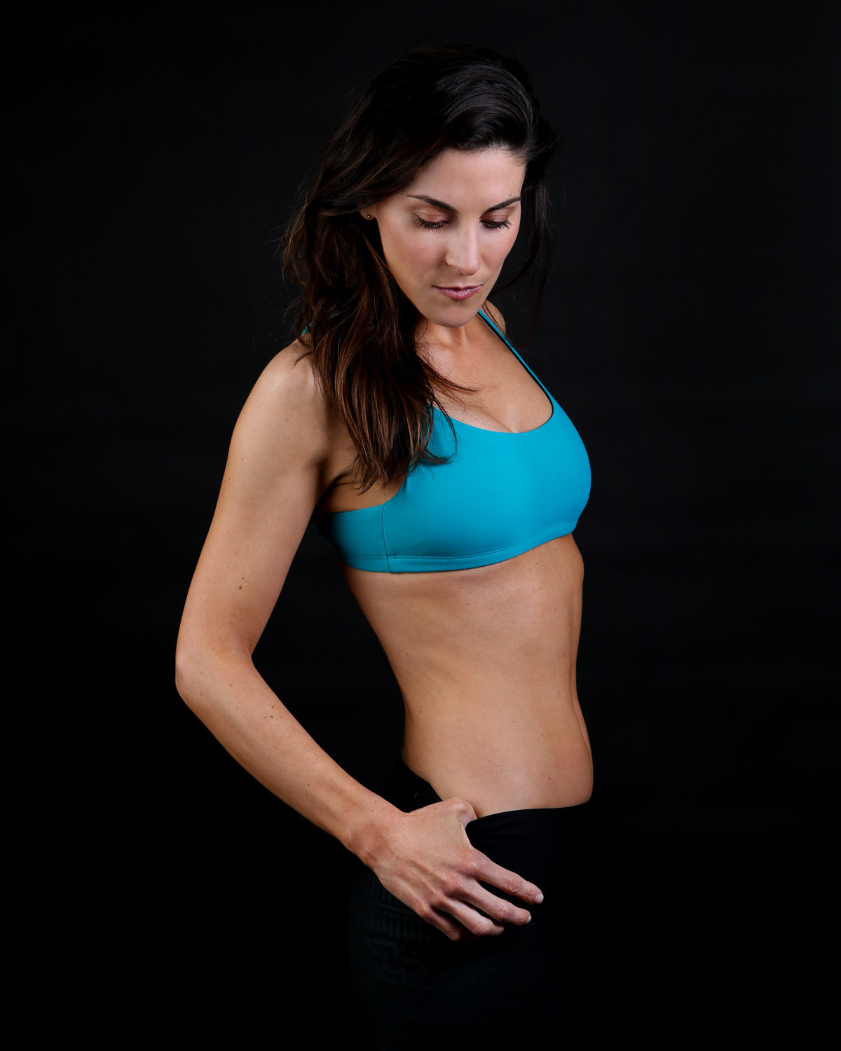 In-Studio with Black Backdrop Fitness Photos