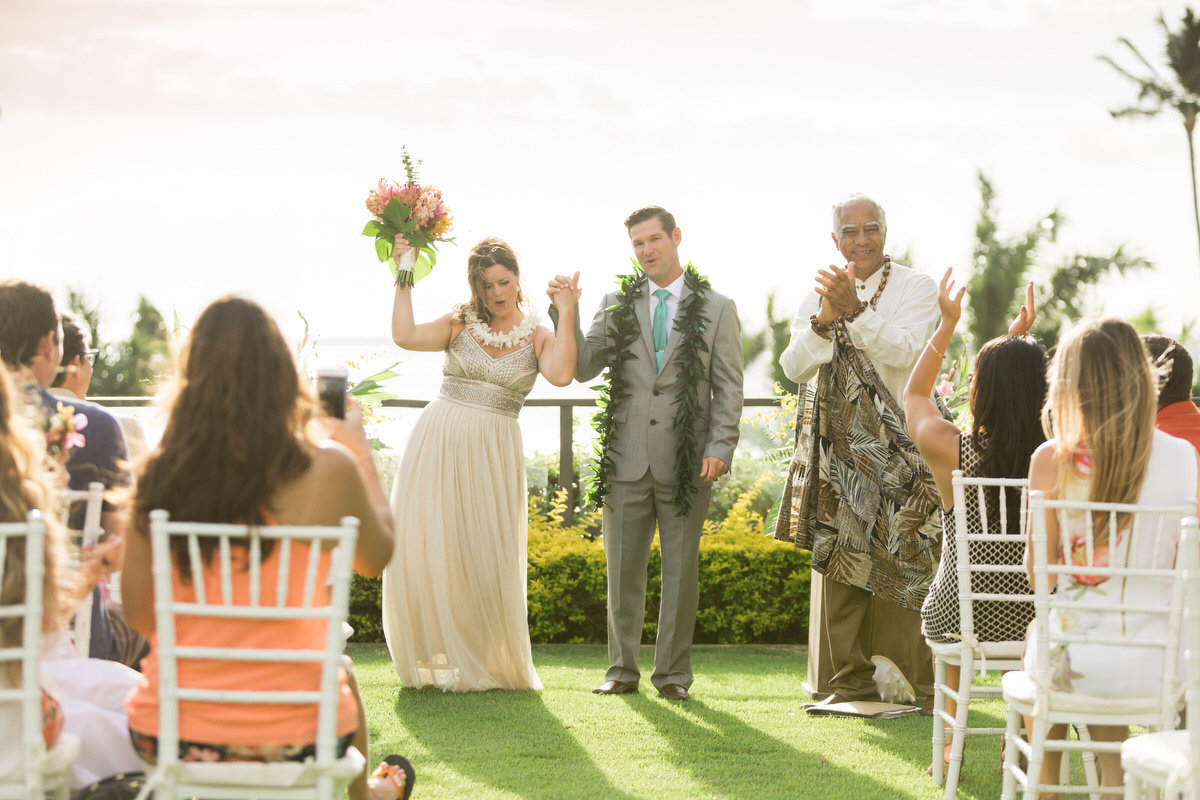 completed maui vow renewal ceremony