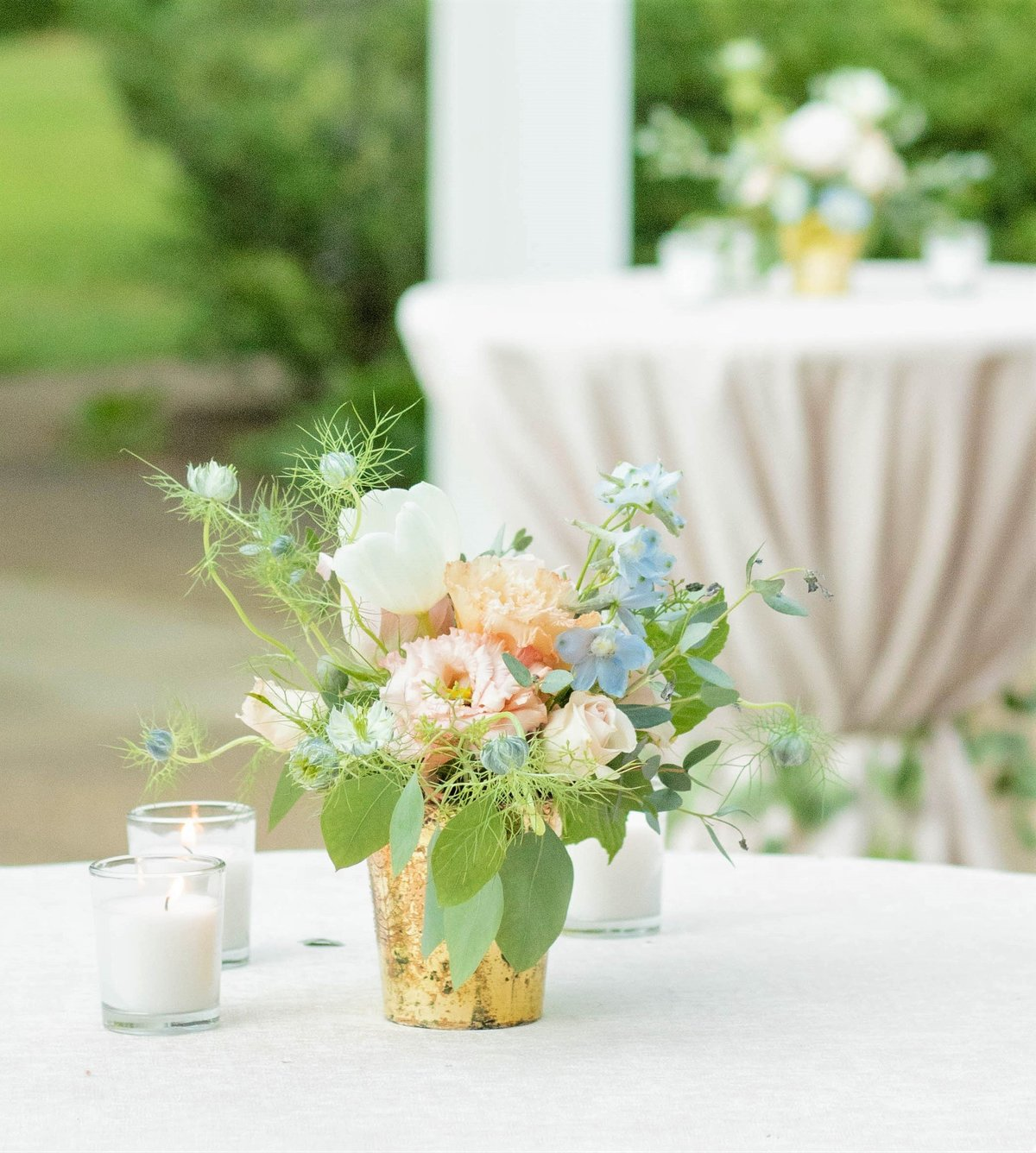 Pastel wedding reception in Mclean, VA