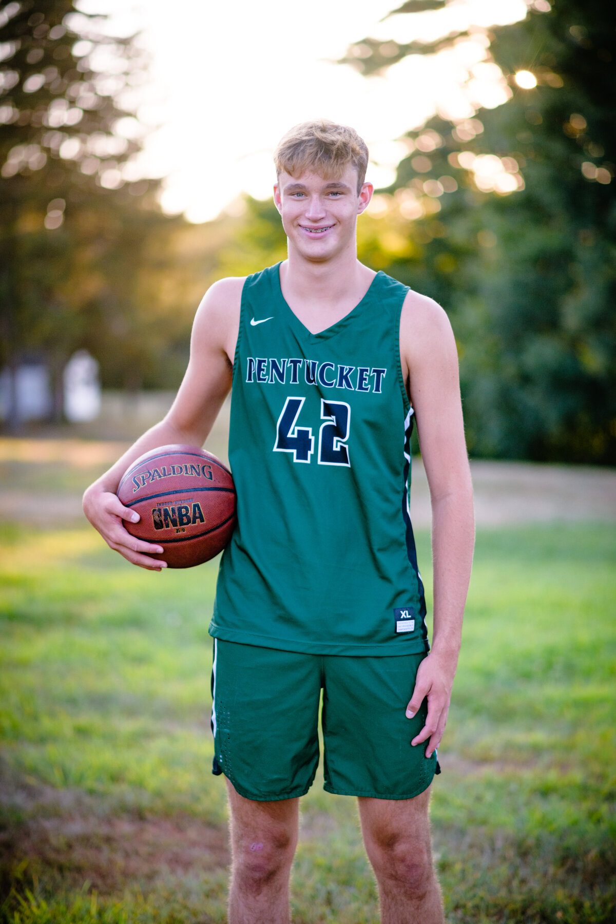 Maudsley state park senior boy session with basketball