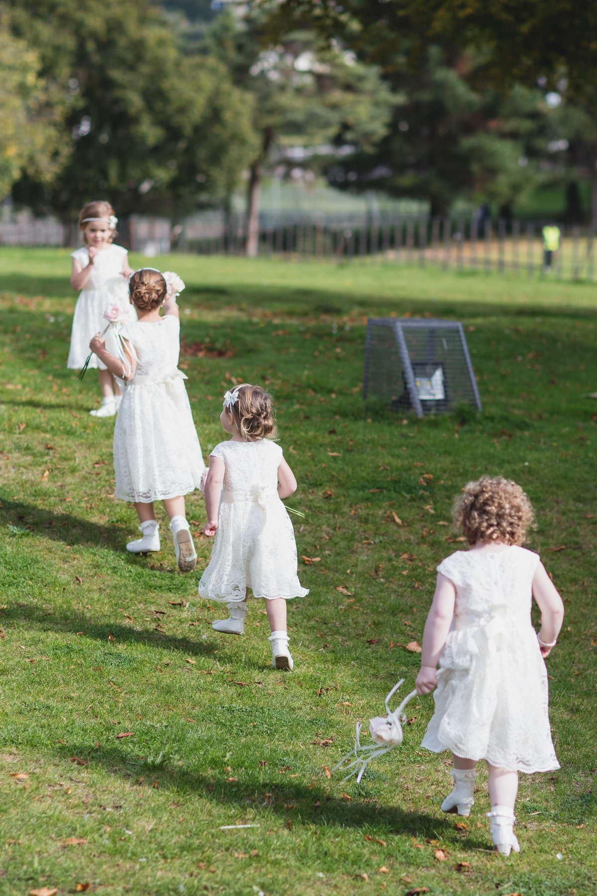 flower girls at torquay wedding in devon