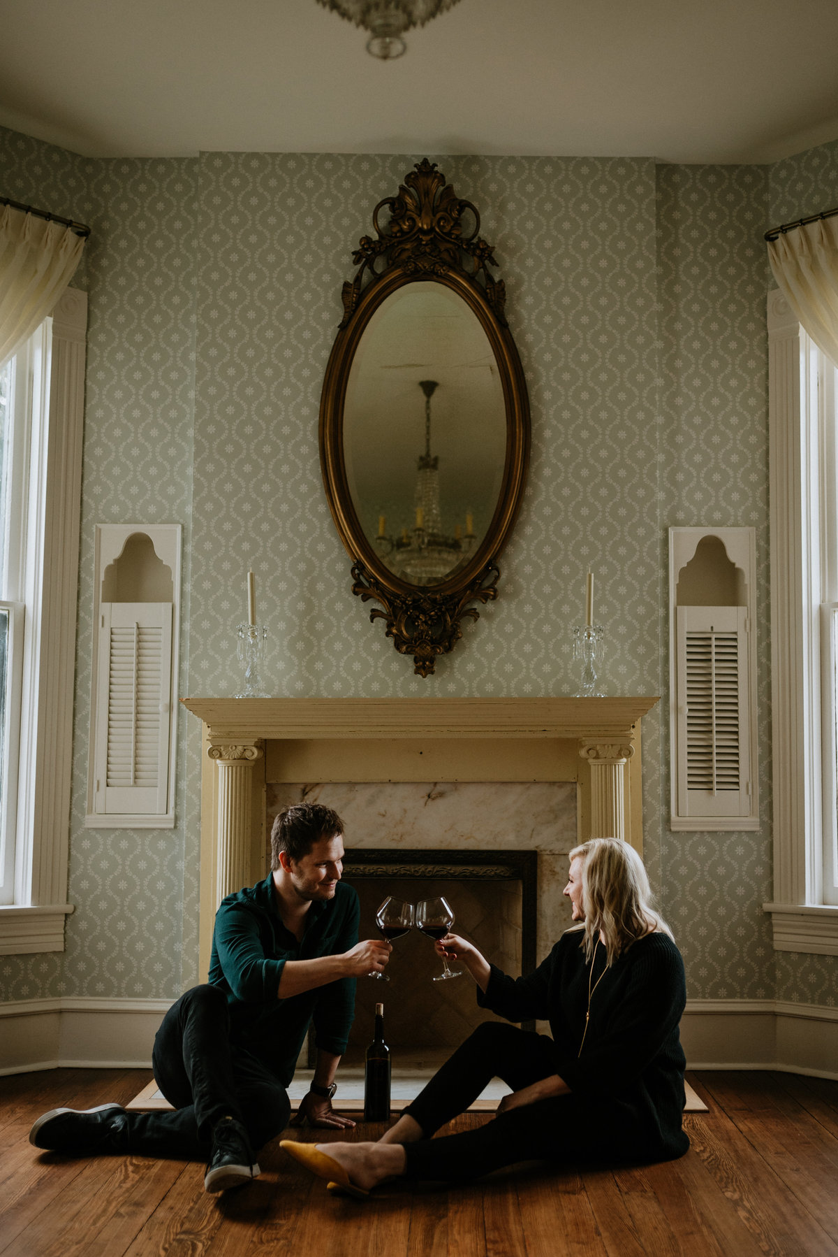 woodbine mansion engagement session
