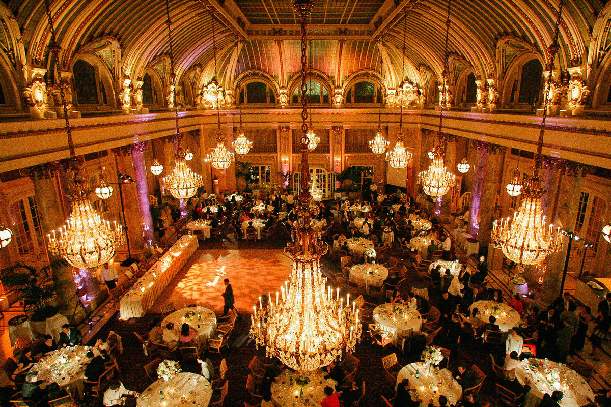 Formal wedding reception at the Palace Hotel in San Francisco.