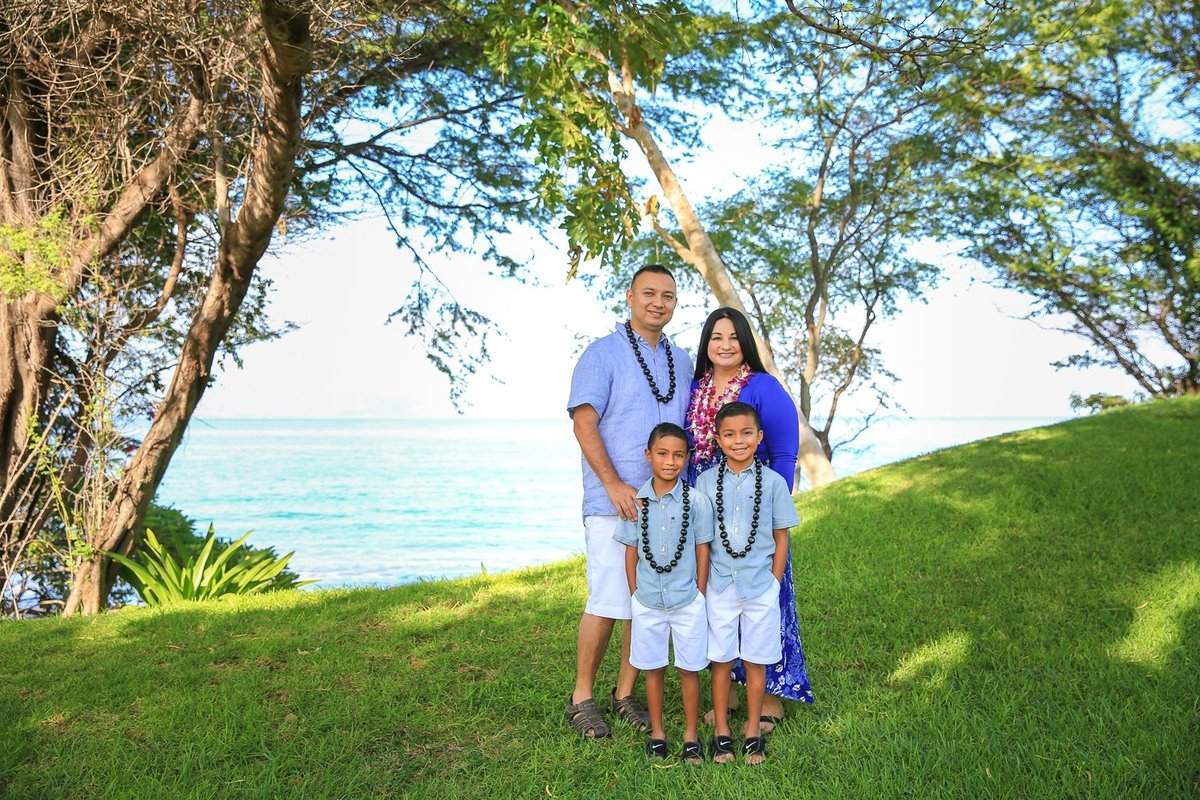Capture Aloha Photography, Maui Family Portraits  on the beach view