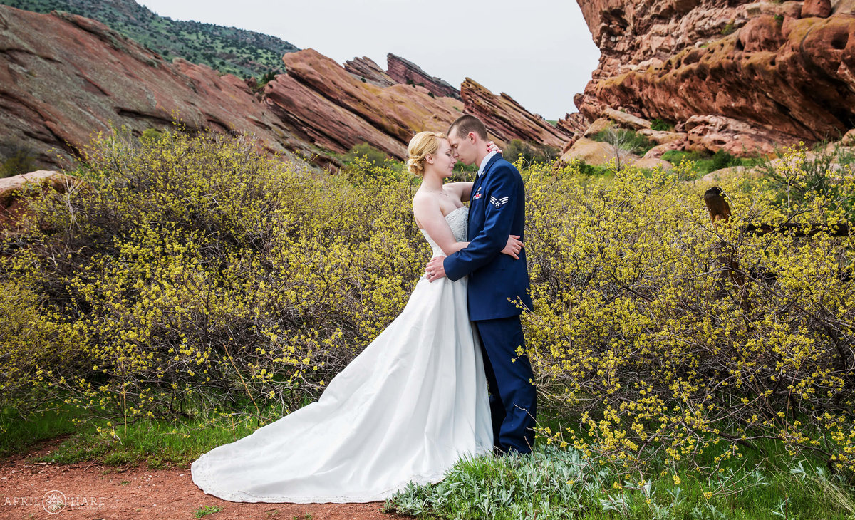 Red Rocks Wedding during Spring in Colorado