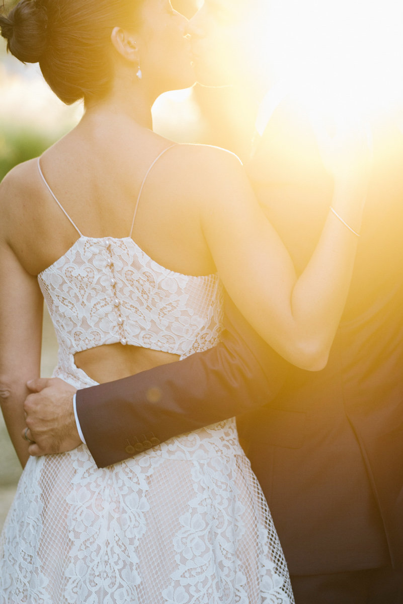 majic hour wedding photos at sunset