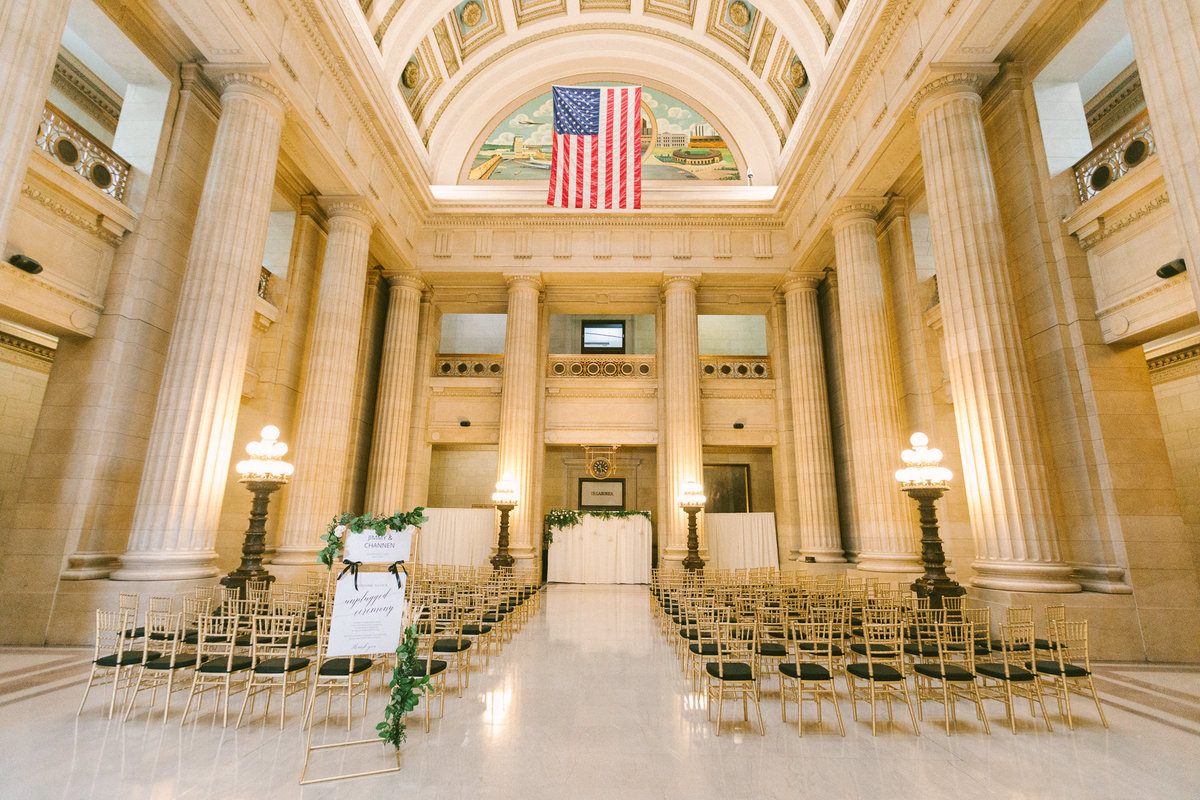 Timeless wedding ceremony coordinated by Columbus Ohio wedding coordinator