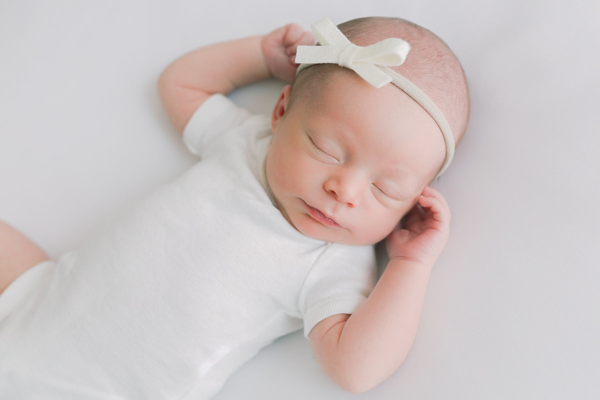 Baby Girl in natural newborn session