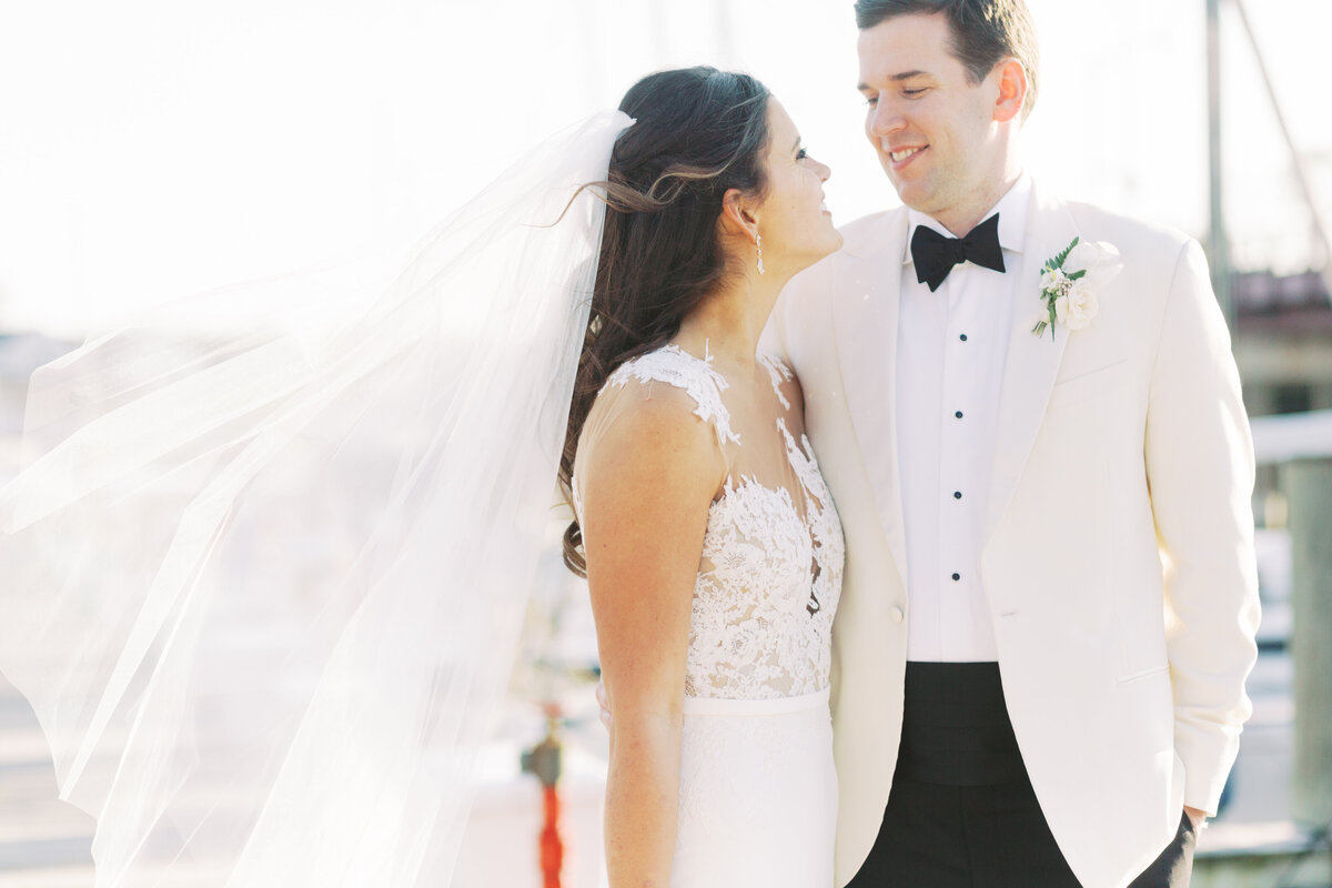 Intimate  winter wedding on the water at Annapolis Yacht Club