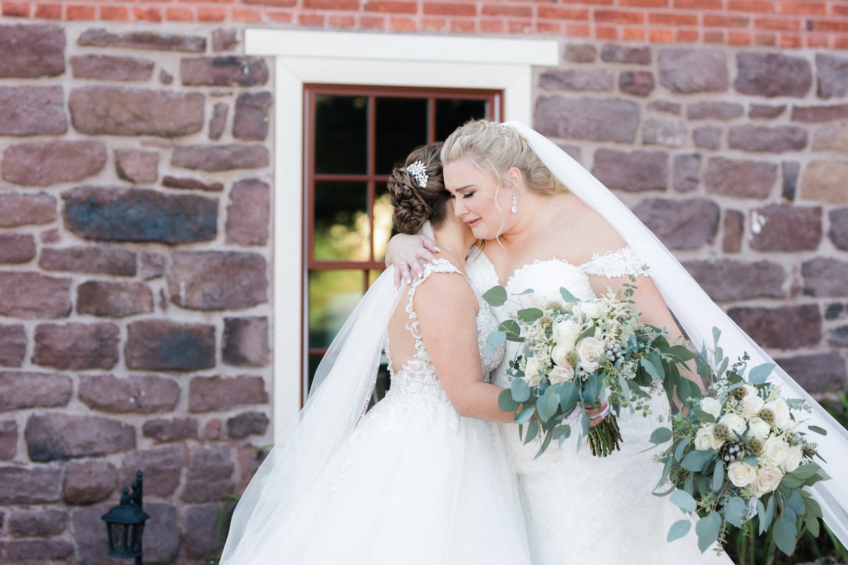 brides first look - historic acres of hershey  wedding