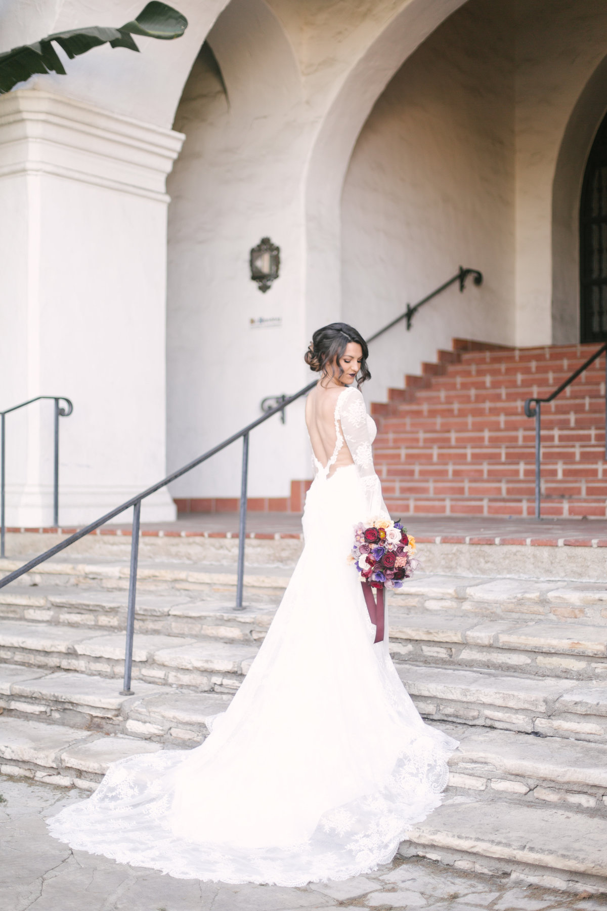 Bride at Santa Barbara Courthouse