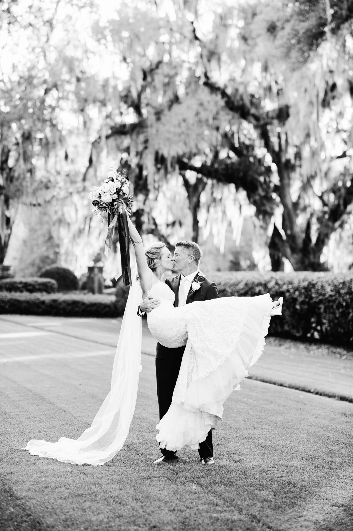 Bride and Groom portraits at The Ford Plantation