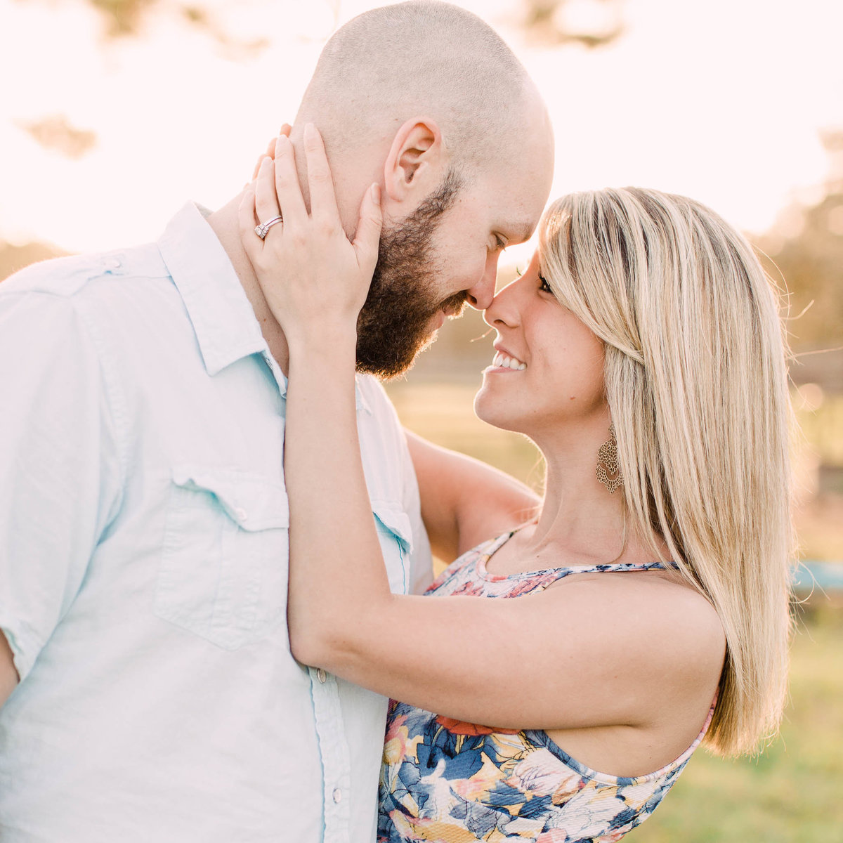 Homosassa Engagement Session in cow pasture