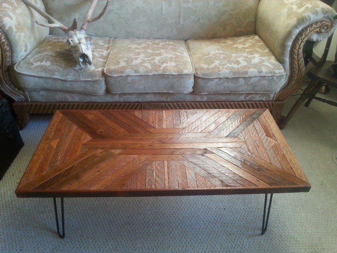 reclaimed fir coffee table 2