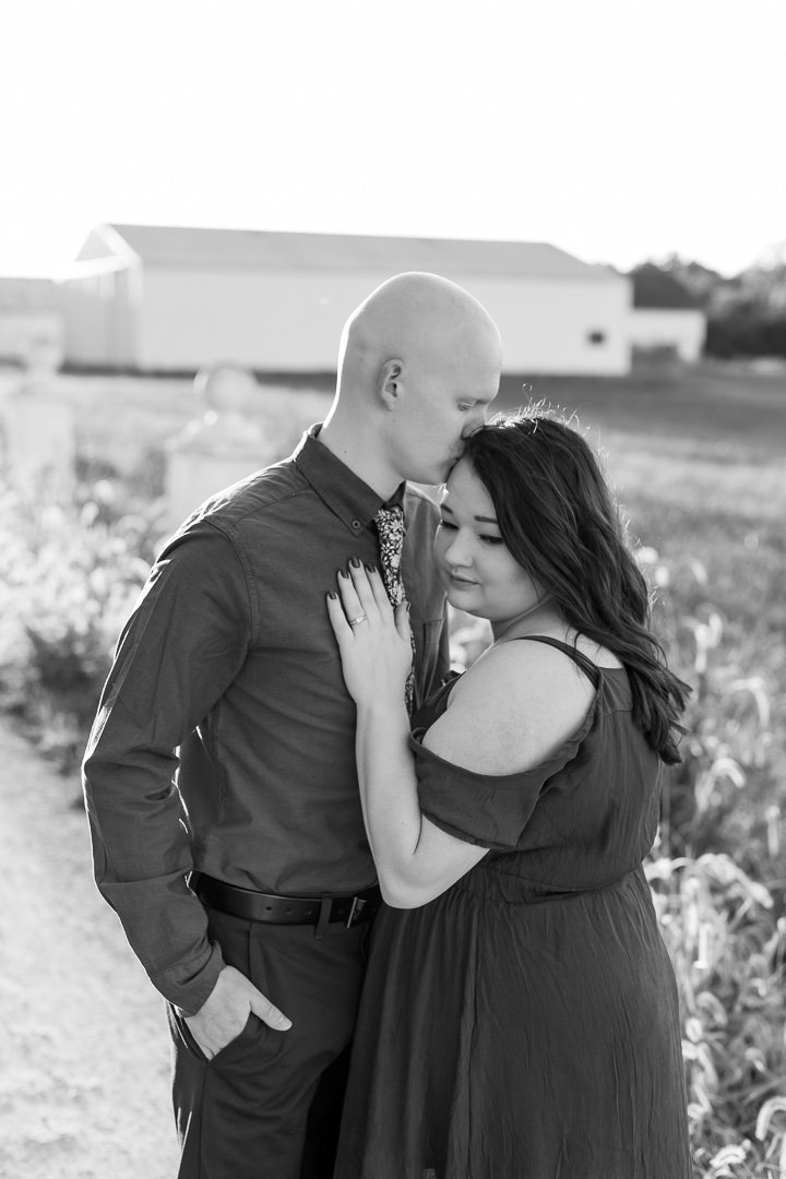 Engagement session in the sunflower field0033
