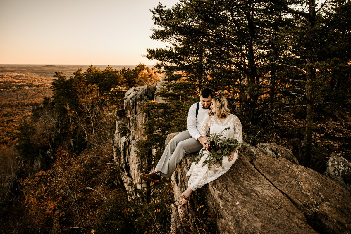 North Carolina Colorado Sunset Hiking  Adventure Lace Elopement