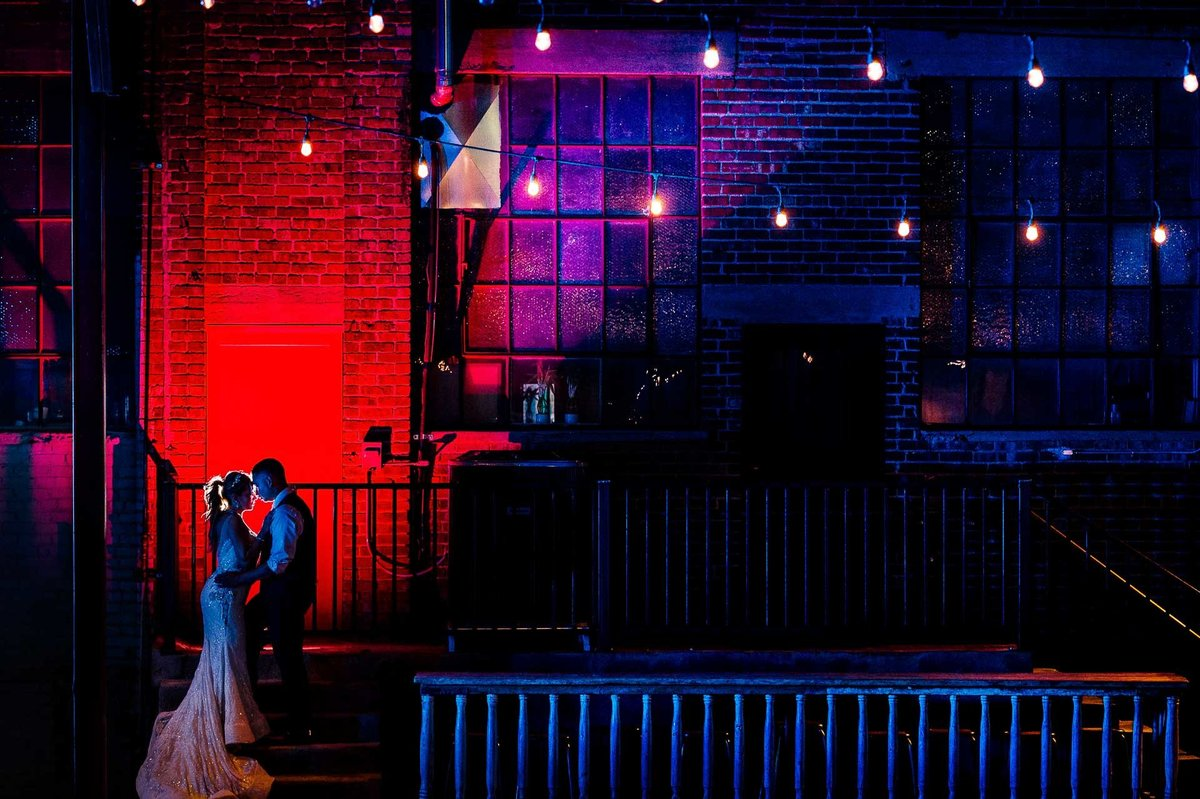 bride and groom portrait at epic railyard in el paso by stephane lemaire photography