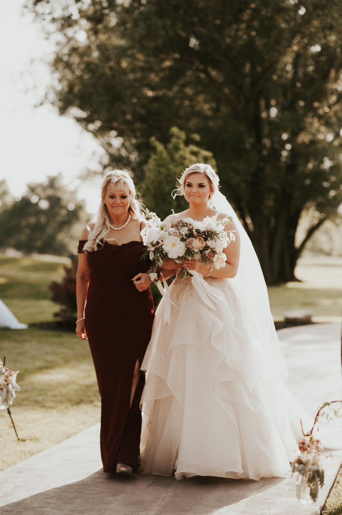 bride and mom mainline wedding florist
