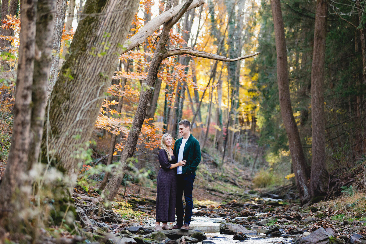 New-Hope-PA-Engagement-Session-Woods-2