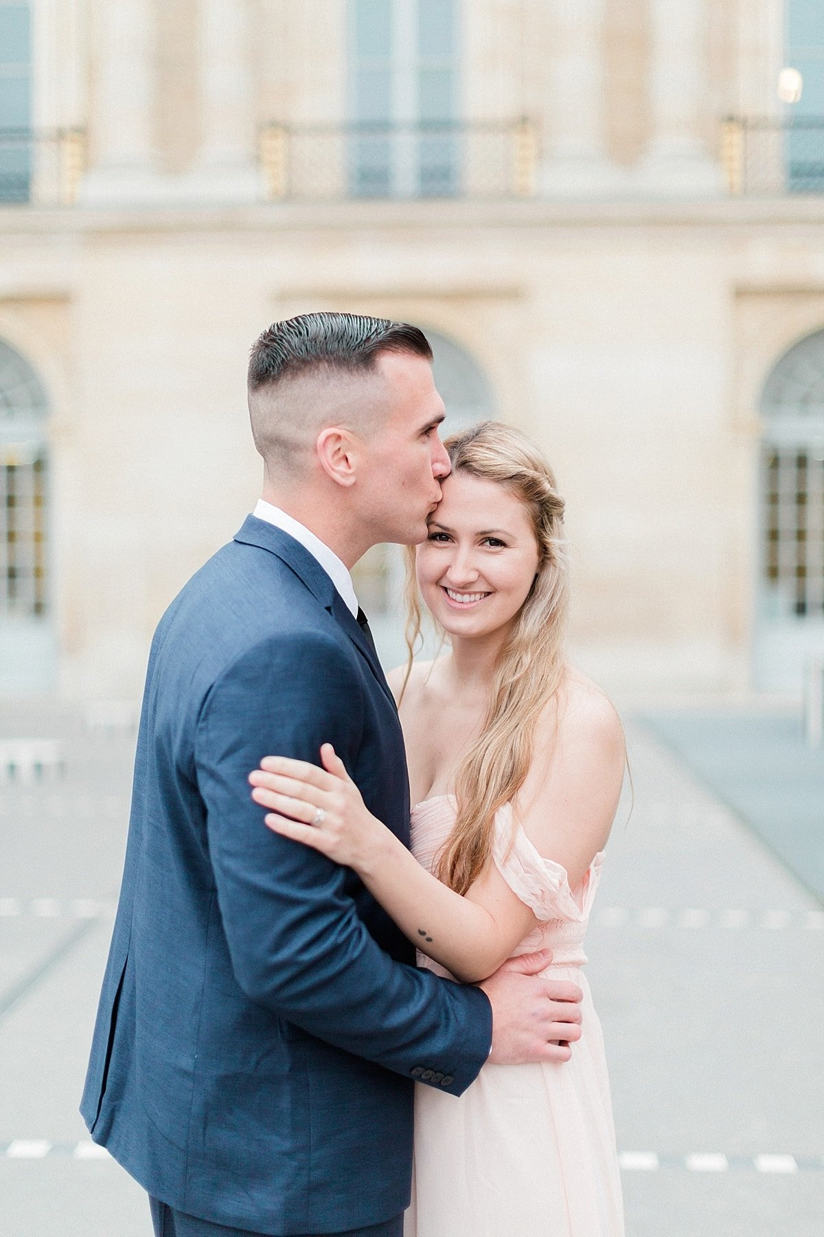 Paris, France anniversary session photographed at Palais Royal by France Destination Wedding Photographer, Alicia Yarrish Photography