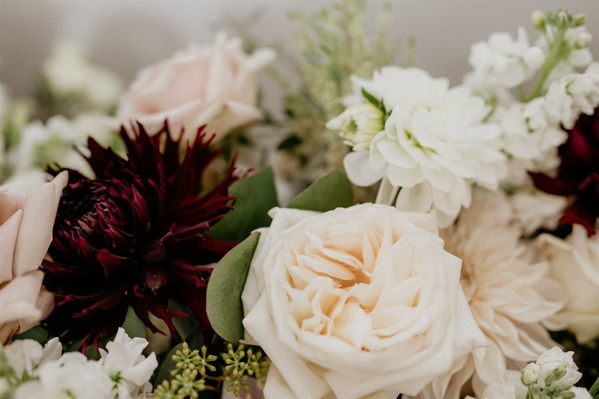 Blush Rose cream Dahlia Bridal  wedding bouquets