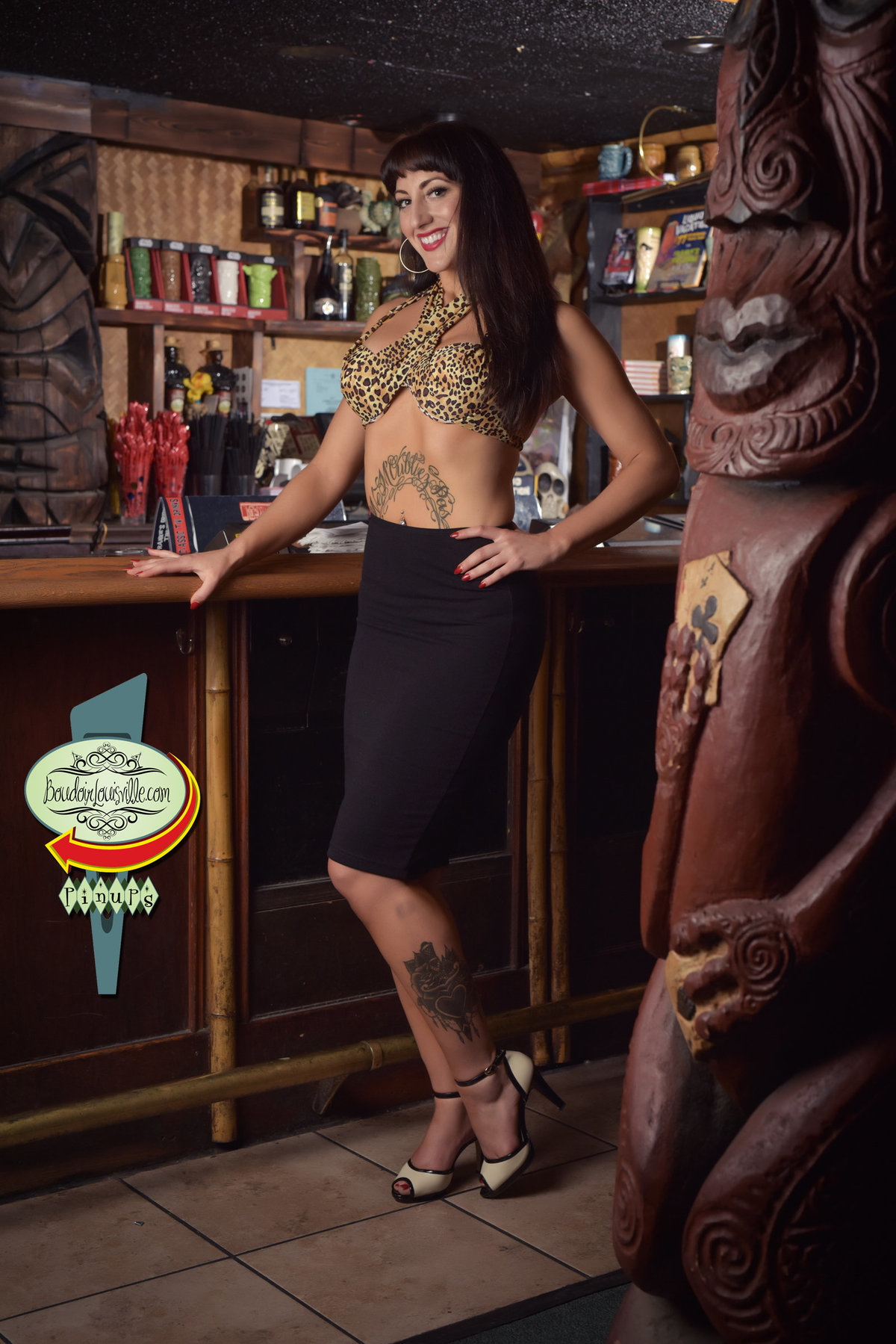 Boudoir Louisville - Las Vegas Pinup Girl Photography - Frankie's Tiki Bar-4 copy