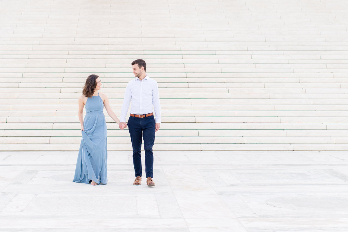 Capitol Building Engagement Session in DC with a visit to Supreme Court Building and Library of Congress | DC Wedding Photographer | Taylor Rose Photography-4