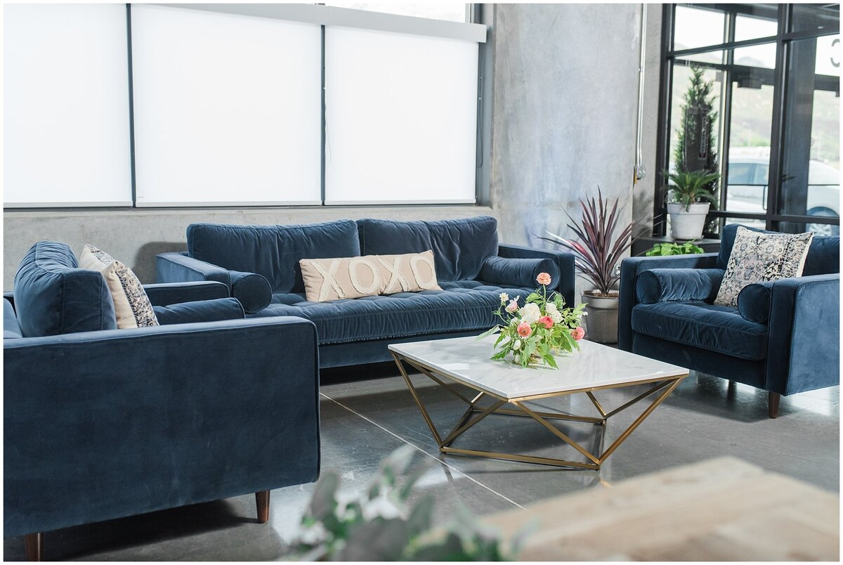 Couch sitting area inside the Foundry
