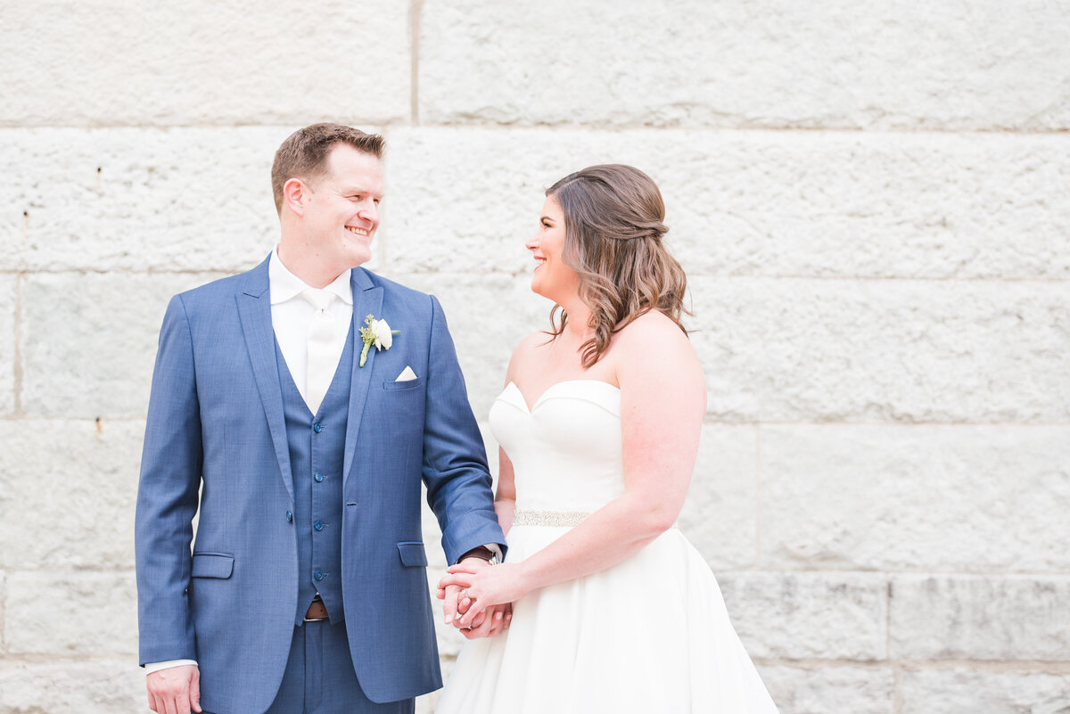 Newlywed Portraits Cait Potter Creative LLC Milltop Potters Bridge Noblesville Square Courthouse Wedding-25
