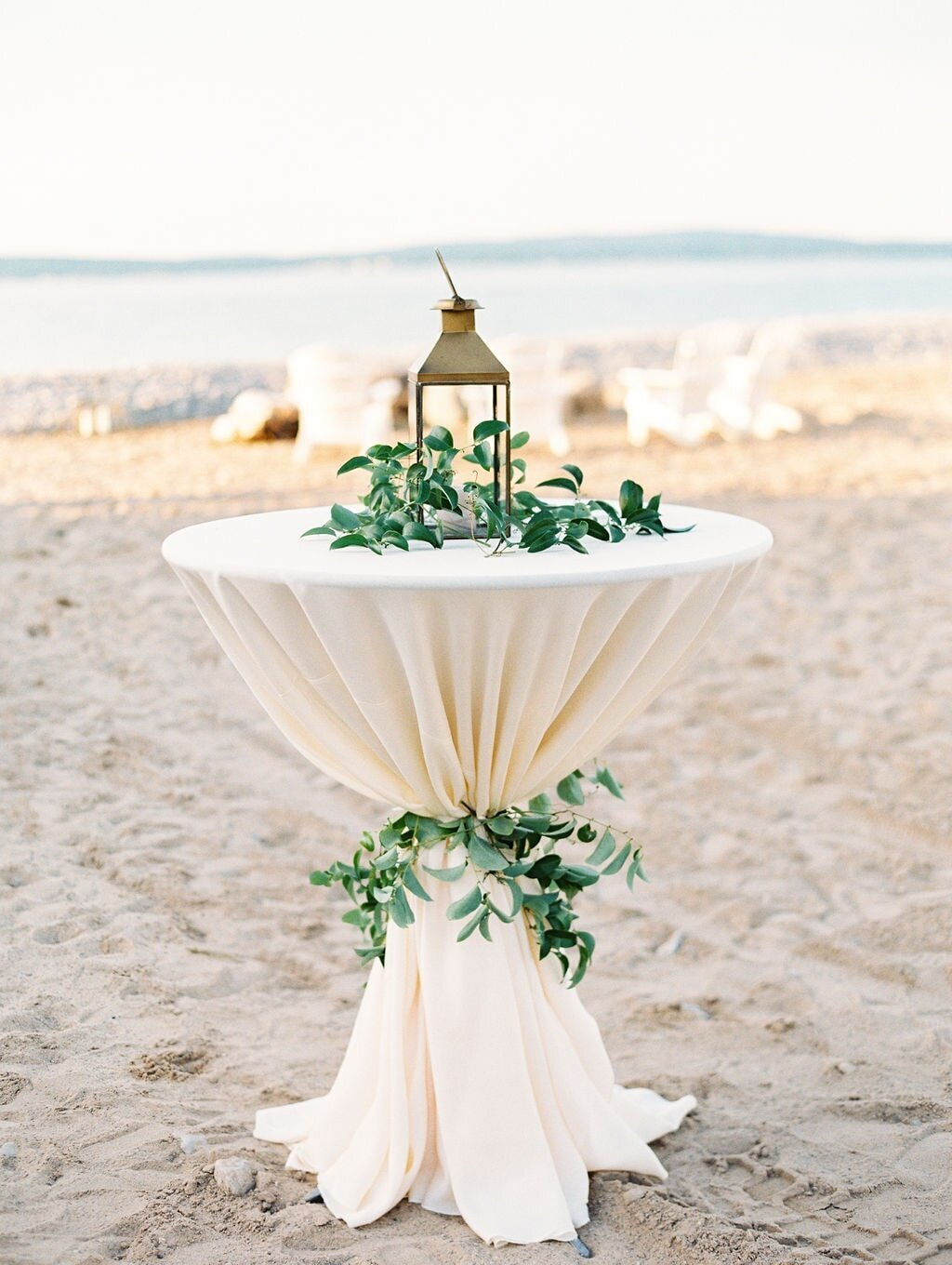 Bay Harbor Beach Wedding Tall Cocktail Tables-min
