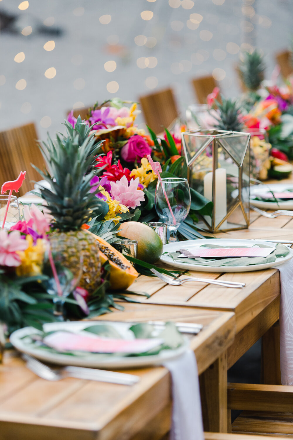 Intimate Beach Wedding Reception