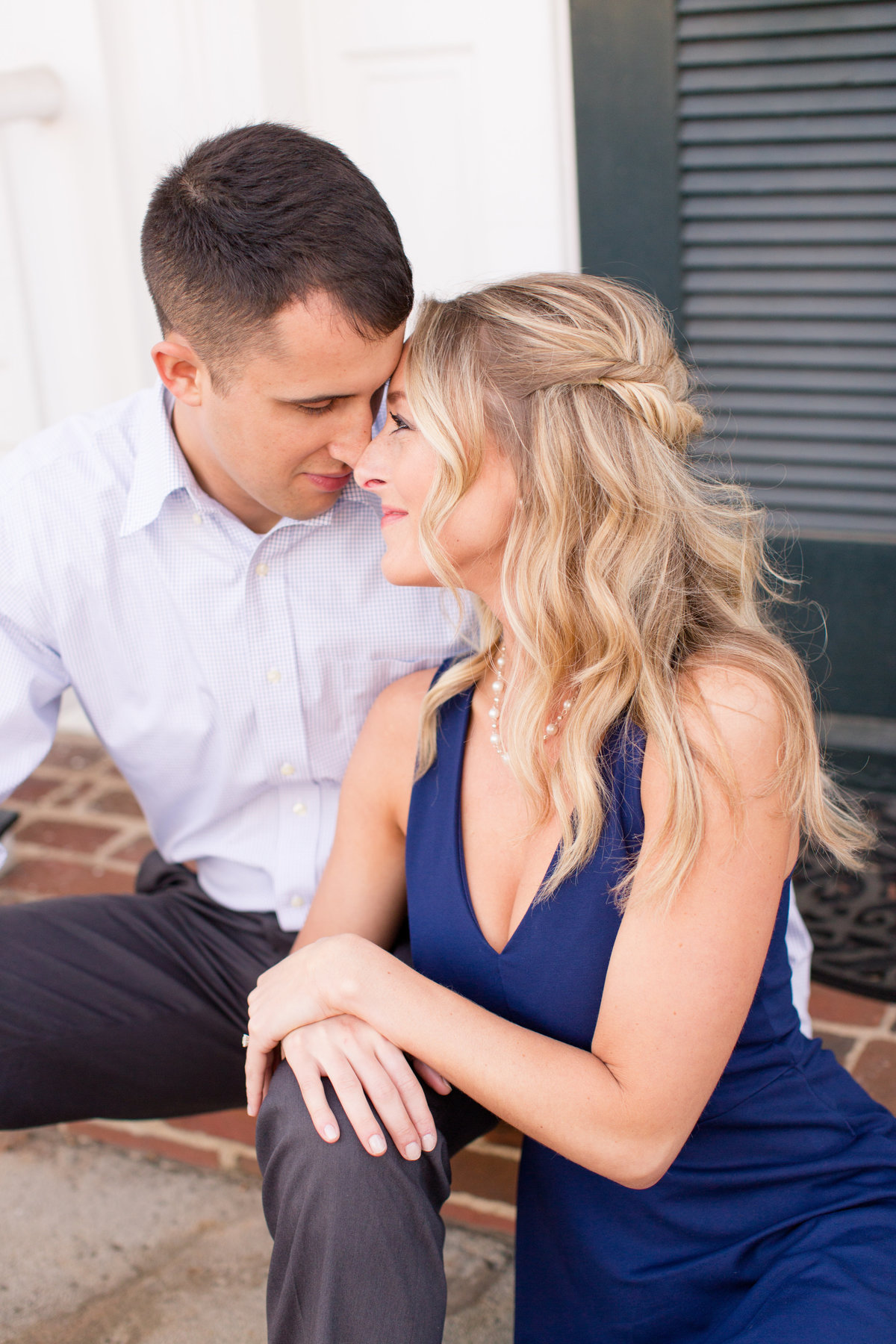 Downtown Fredericksburg engagement by Marie Hamilton Photography