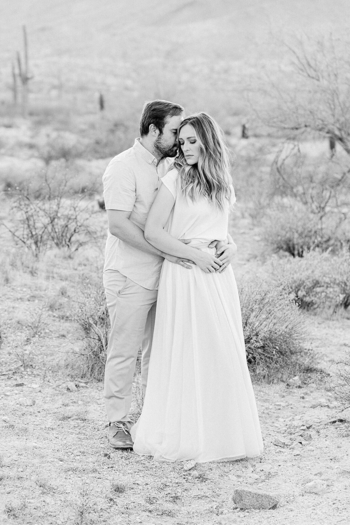 Engagement Photos At South Mountain In Phoenix AZ - Scottsdale Wedding Photographer - Atlas Rose Photography AZ02