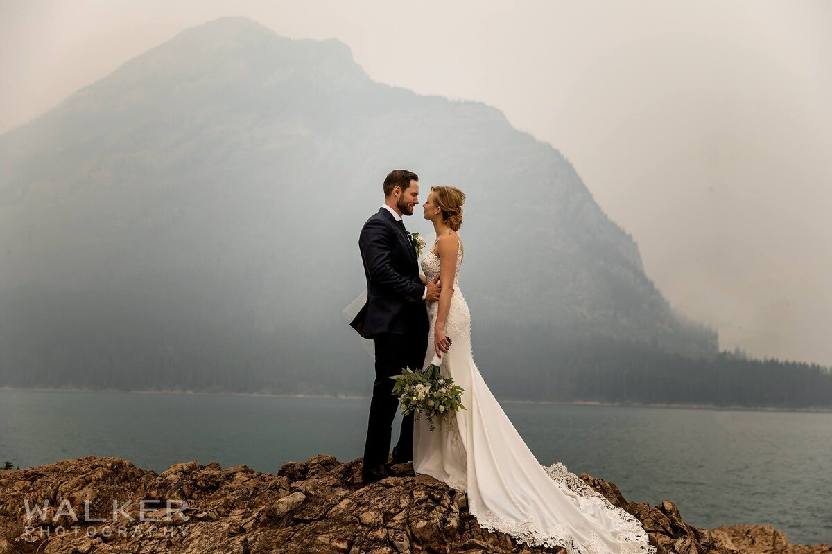 Banff Wedding Photos at Lake Minnewanka