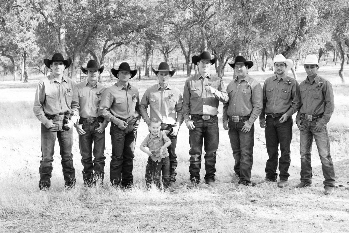 cowboy groomsmen, cowboy wedding