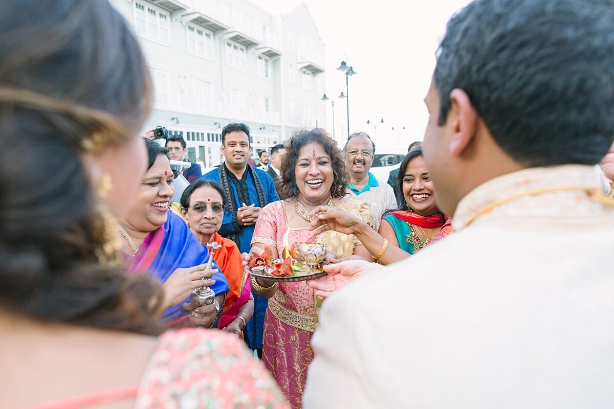 Indian wedding celebration in Monterey, CA