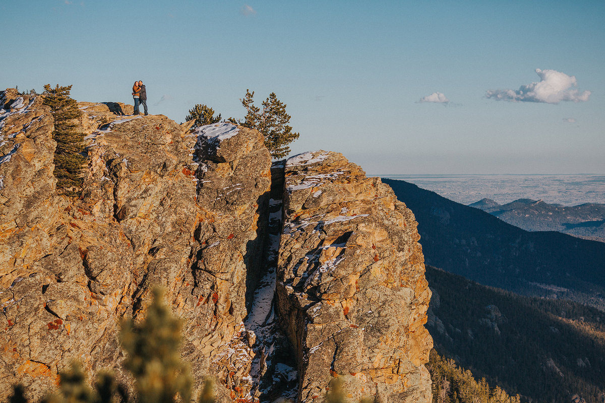 mountain top engagement photography session in colorado