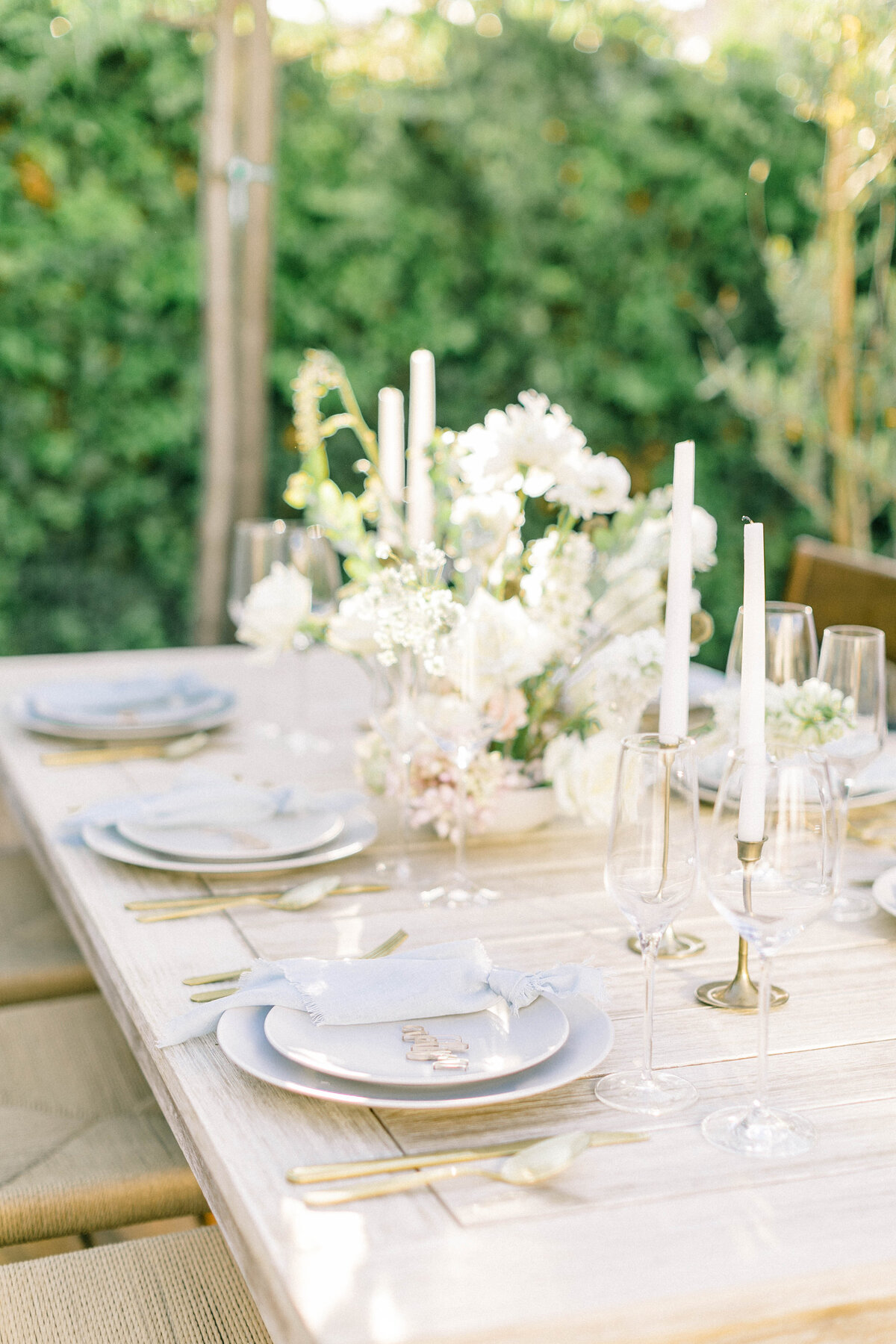 not jess a planner baby blue reception table wedding