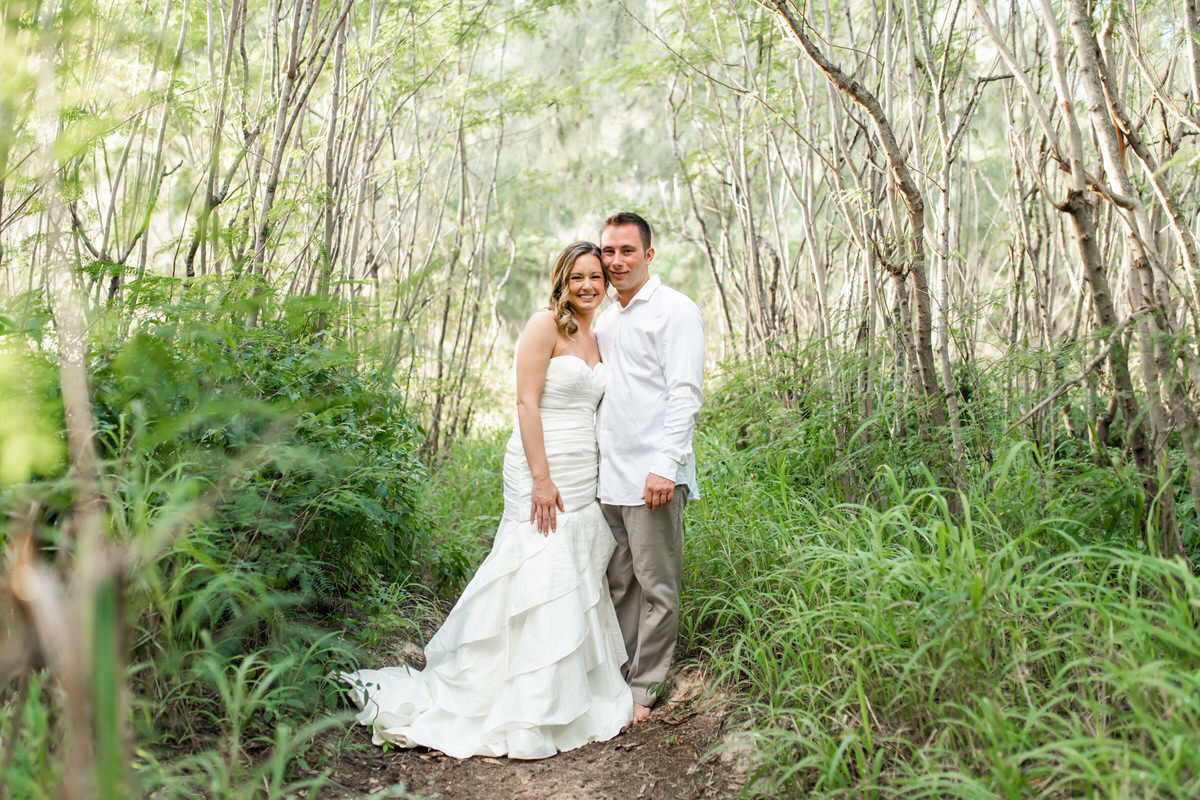 Kauai bride and groom