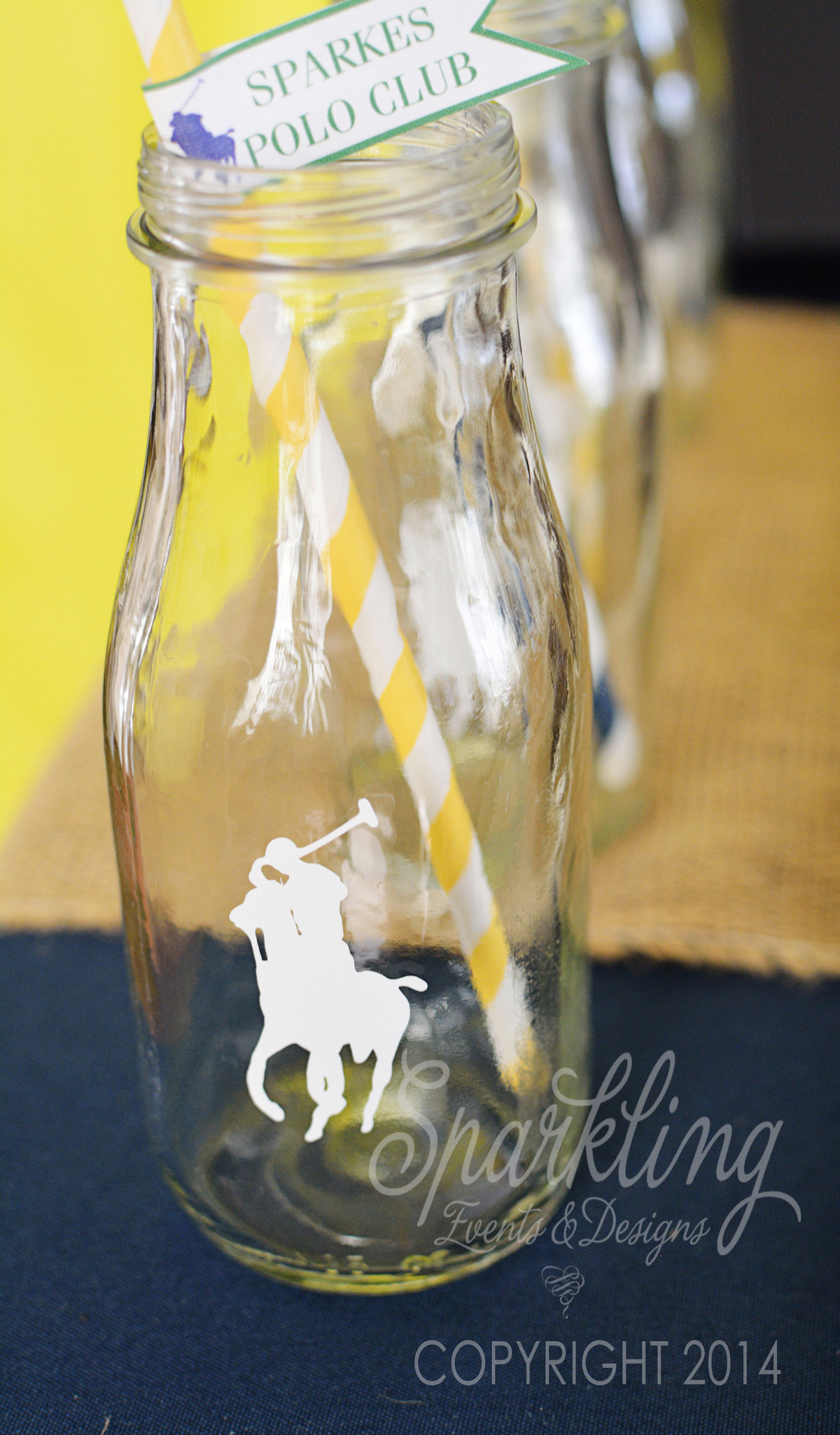 Sparkling Events Designs - Polo Party - Milk Bottles