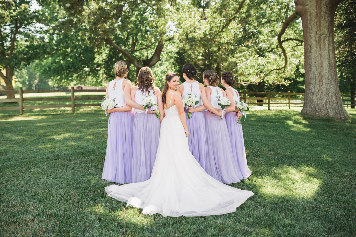 bride with her bridesmaids | Charlottesville Wedding Photography