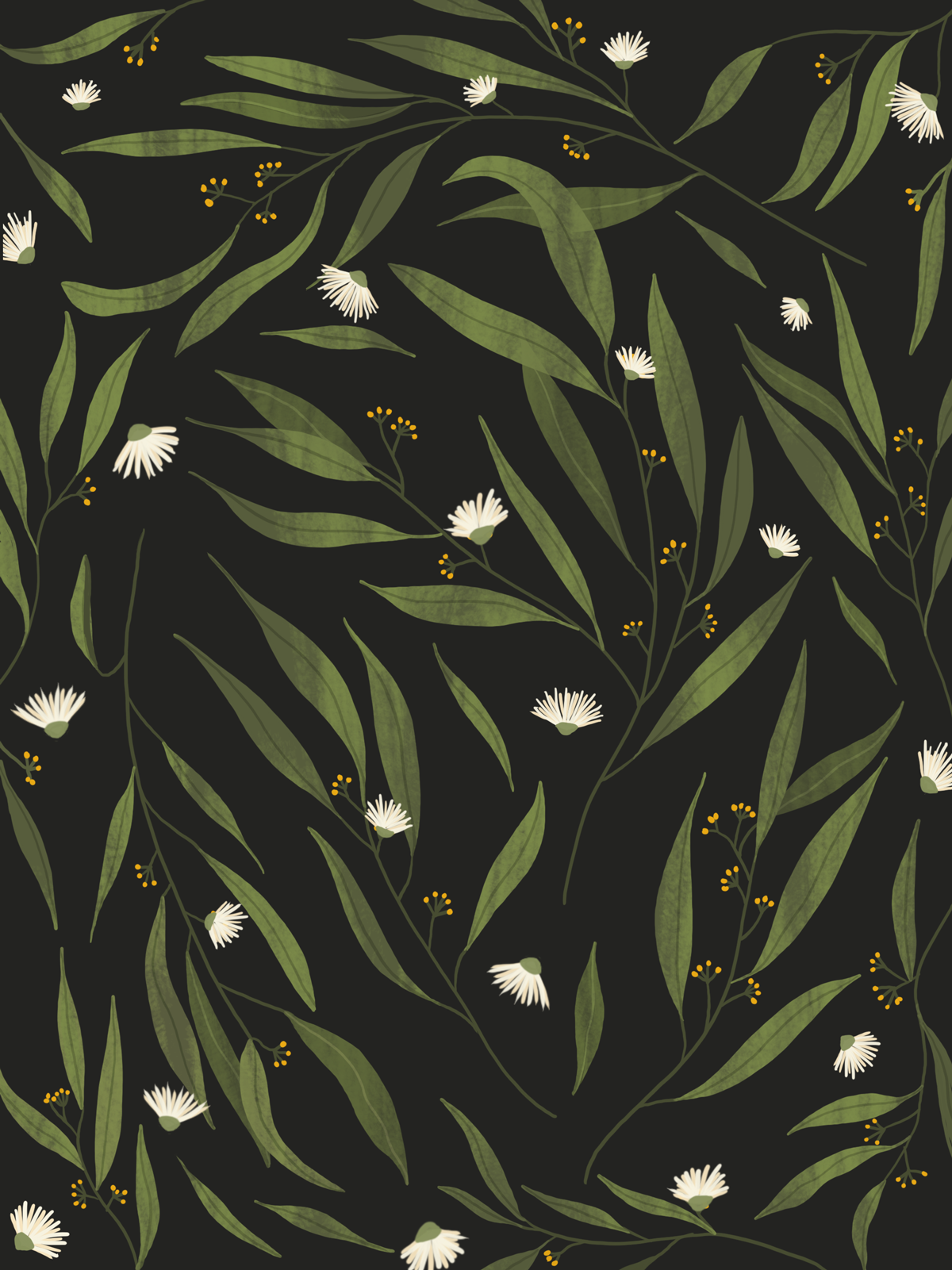 BG_ elemental - Eucalypt-black--pattern
