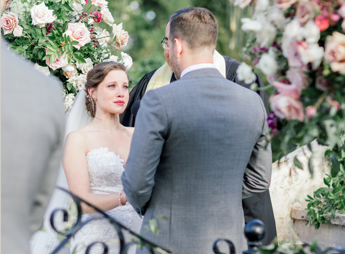 Florida Outdoor Romantic Garden Wedding