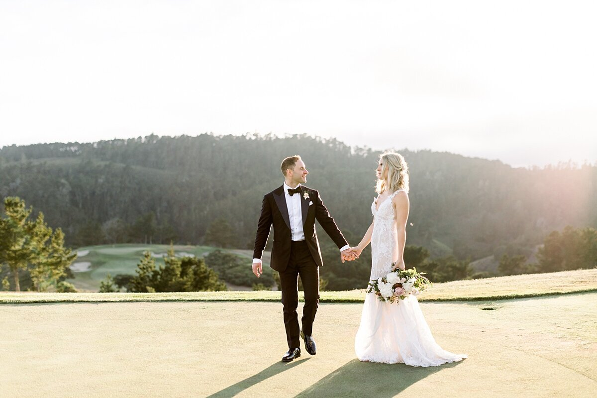 Golf course wedding photos pebble beach