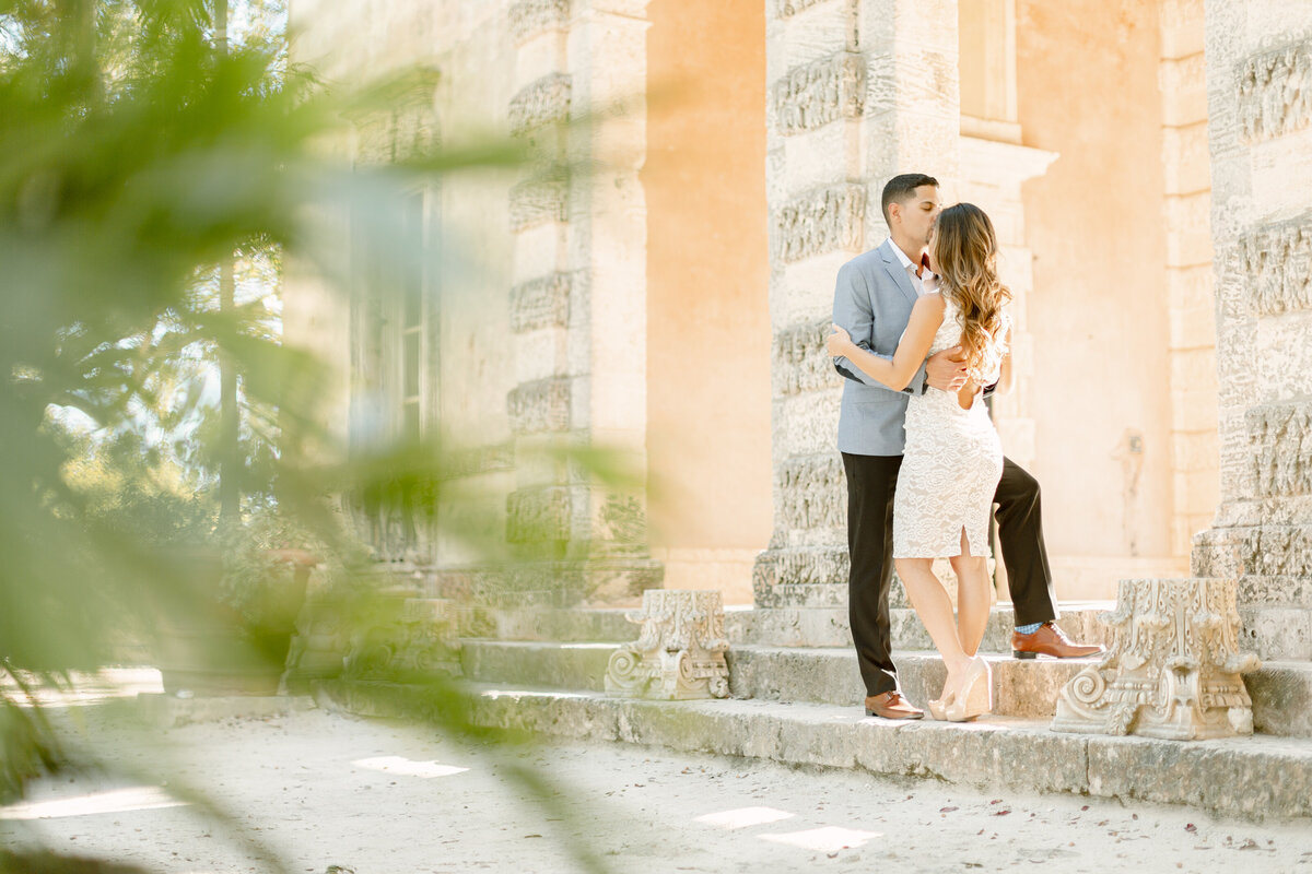 Vizcaya Museum Engagement Photography Session 19